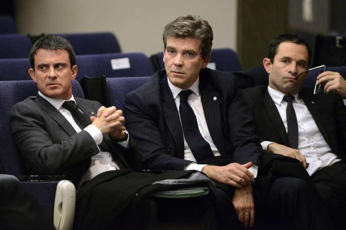Le premier ministre, Manuel Valls, et le ministre de l'économie, Arnaud Montebourg.