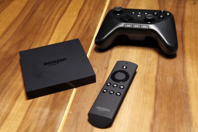 La Fire TV d'Amazon présentée le 2 avril à New York.