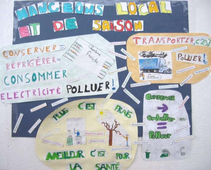 Affiche réalisée par les élèves de l'école élémentaire Olivier-de-Serres, à Paris (15e).
