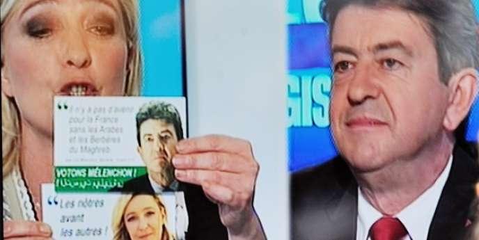 Le faux tract avait été distribué dans les boîtes aux lettres de la 11ecirconscription du Pas-de-Calais, où se présentaient Marine LePen et Jean-Luc Mélenchon aux législatives de 2012.