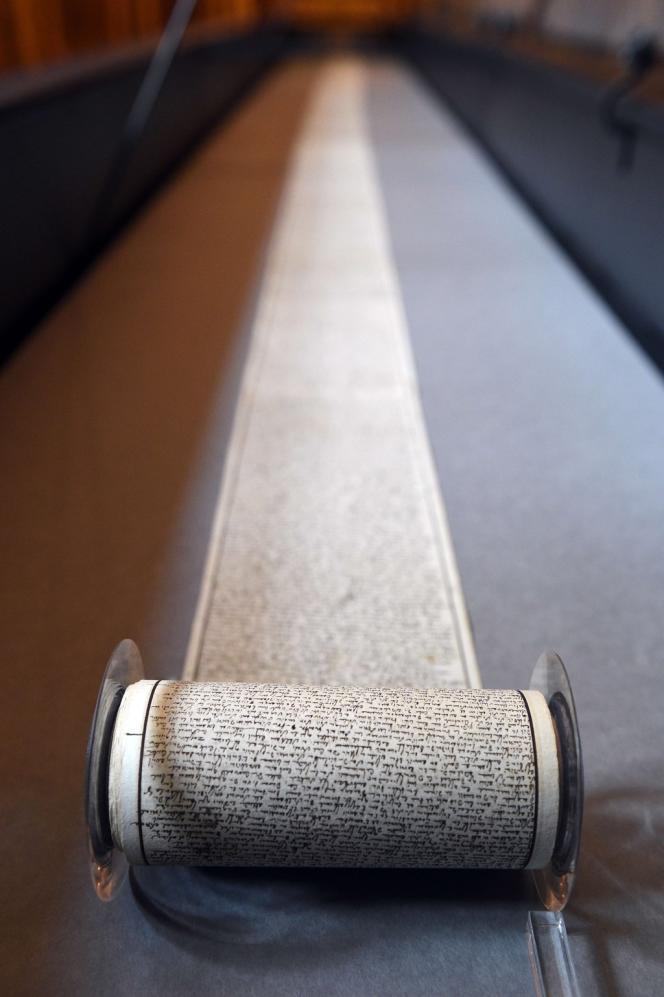 Le manuscrit des «Cent Vingt Journées de Sodome» fait 12mètres de long sur 11,5 centimètres.