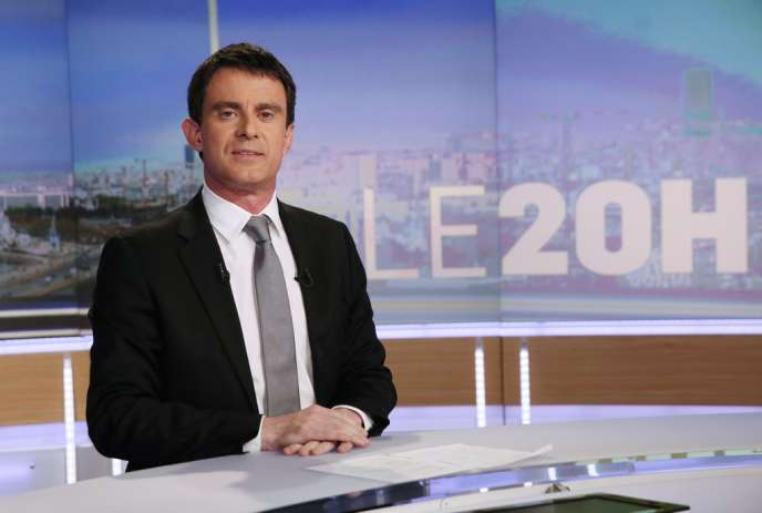 Manuel Valls, sur le plateau du JT de TF1, le 2 avril, venu faire la promotion de son gouvernement