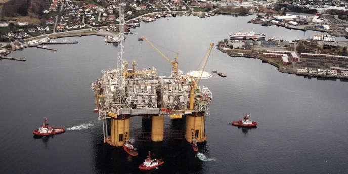 La plus grande plate-forme gazière au monde, au large de Stavanger (Norvège).