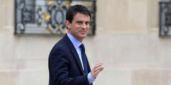 Manuel Valls à Matignon, le 4 avril.