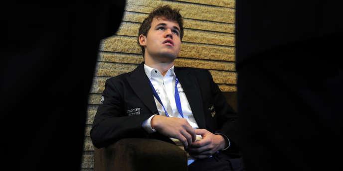 Magnus Carlsen à Chennai (Inde), le 25 novembre 2013, trois jours après sa conquête du titre mondial.