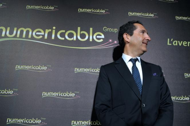 Patrick Drahi, actionnaire principal d'Altice, maison mère de Numericable, le 17 mars, à Paris.