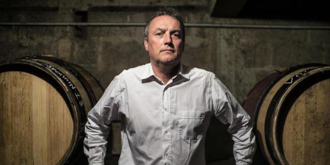 Le viticulteur bio Emmanuel Giboulot dans son domaine de Beaune, le 24 février.