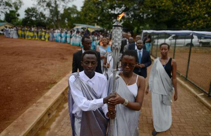 Commémoration du génocide à Kicukiro, un quartier de Kigali, samedi 5avril.