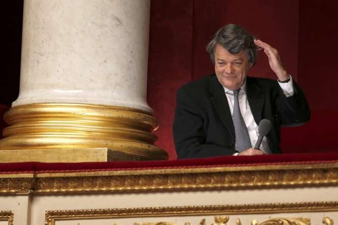 Jean-Louis Borloo, président de l'UDI, à l'Assemblée nationale, le28novembre2012.