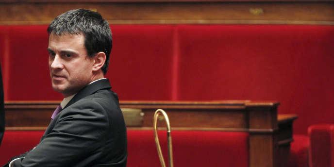 Manuel Valls à l'Assemblée nationale, en décembre2010.