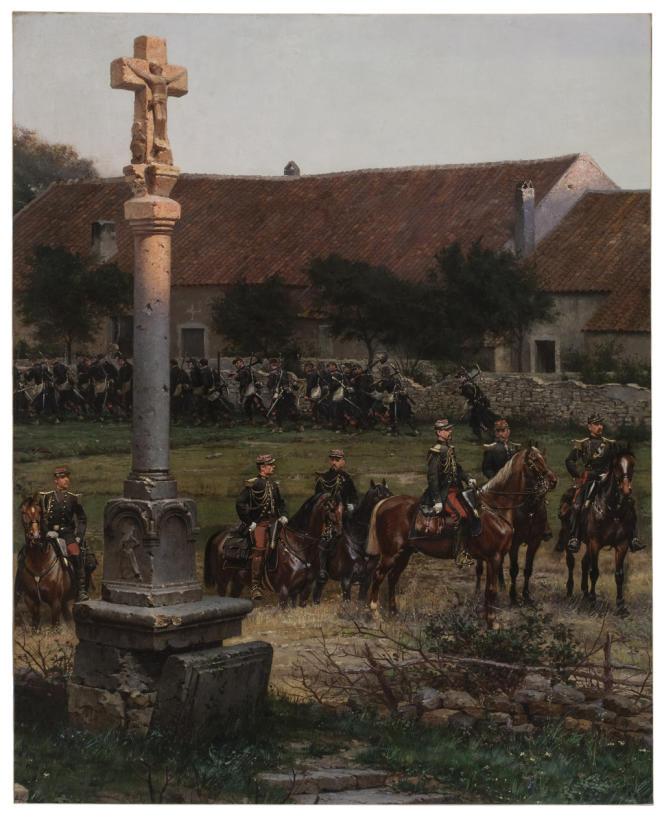 Edouard Detaille, Les officiers de l'état-major du maréchal Canrobert, fragment du Panorama de Rezonville, 1883. Photo Estelle Rebourt.
