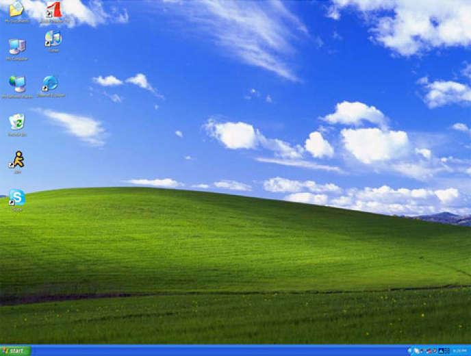 Le fonds d'écran par défaut de WindowsXP.