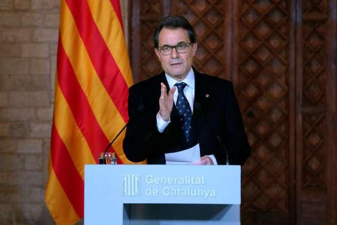 Le président catalan, Artur Mas, le 8 avril 2014.