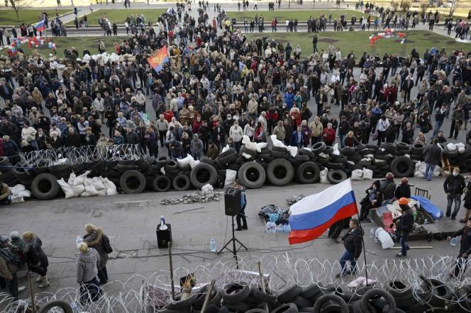 A Donetsk, le 8 avril.