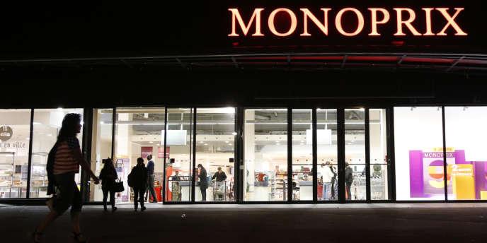 Une enseigne Monoprix à Paris, en octobre.