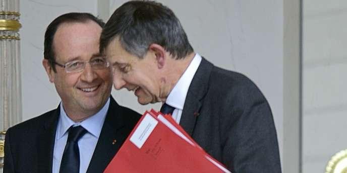 François Hollande et Jean-Pierre Jouyet en février 2013 à l'Elysée.