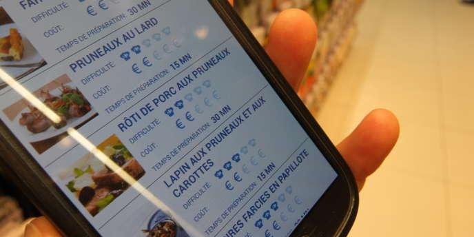 Une application développée pour le magasin Carrefour, dénommée « C-où » (disponible sur Androïd et iOs), permet de retrouver un produit en particulier dans les quelques 11 300 mètres carrés d'étalages.