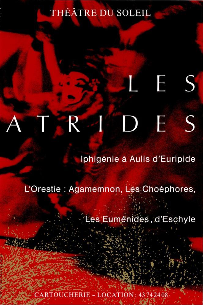 L'affiche pour la tétralogie des Atrides, 1990.