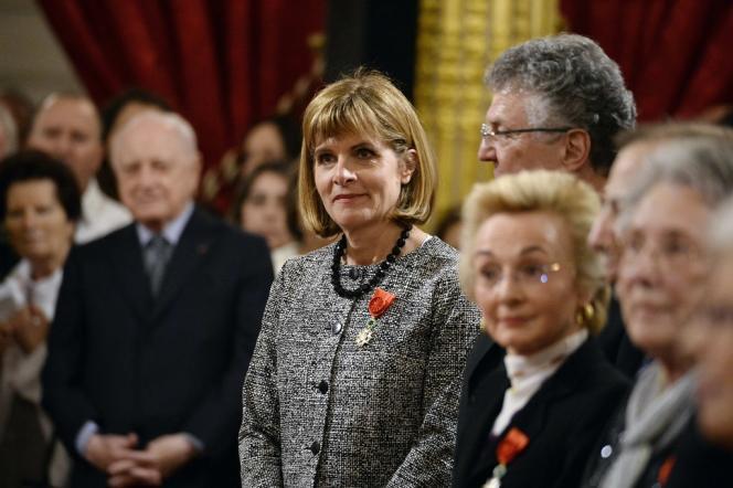 Anne Lauvergeon, le 18 mars, promue Grand officier de la Légion d'honneur, dans les salons de l'Elysée.