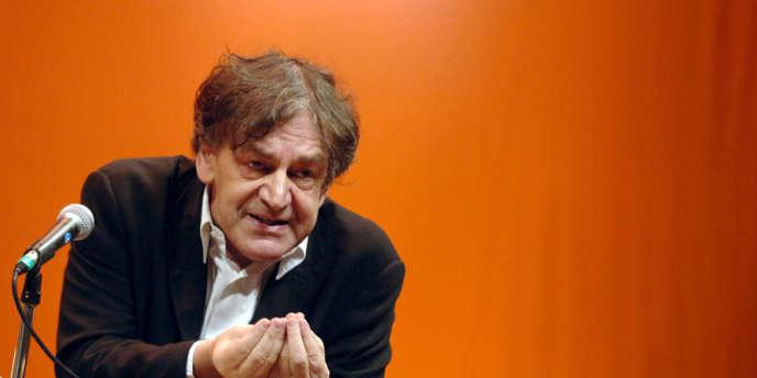 Alain Finkielkraut lors d'un débat organisé à la Maison de la culture de Grenoble, en septembre 2007.
