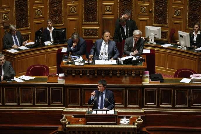 Discours de Manuel Valls au Sénat, mercredi 9 avril.