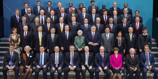 Lors de la rencontre des ministres des finances du G20 à Washington, le 10 avril.
