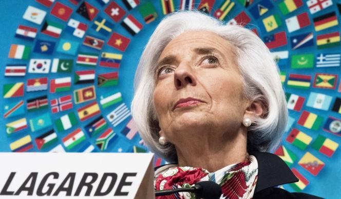 Christine Lagarde, directrice du Fonds monétaire international, le 12 avril à Washington.