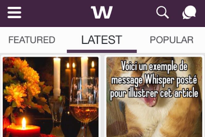Flux de publications sur Whisper.