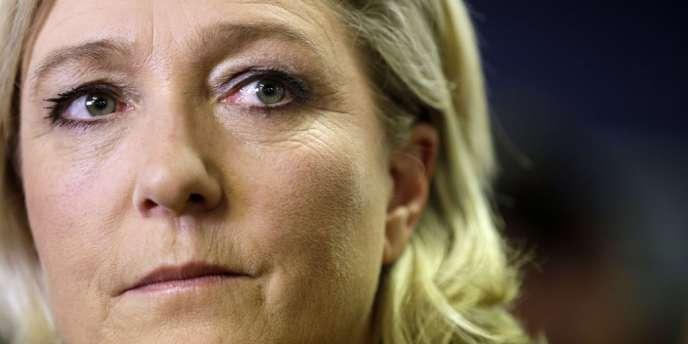 La présidente du Front National, Marine Le Pen, le 30 mars à Nanterre.