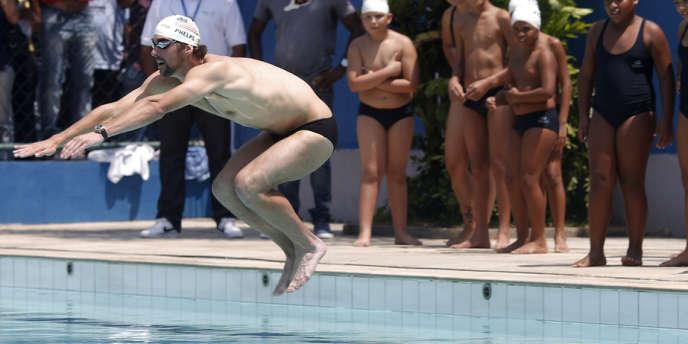 Michael Phelps, ici à Rio, le 30 octobre 2012.