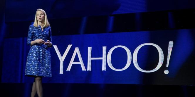 La directrice générale de Yahoo!, Marissa Mayer, le 7janvier.
