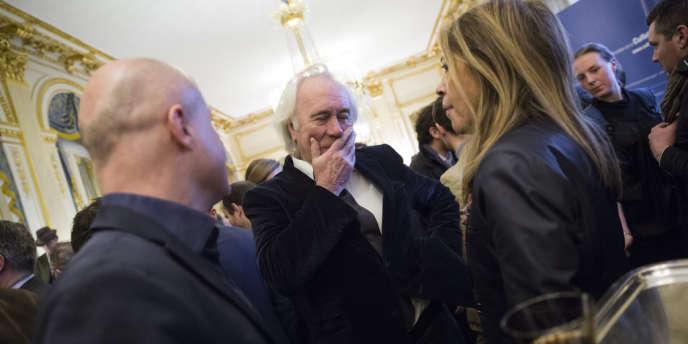 Jean-Luc Hees, président de Radio France, le 21 janvier, lors des vœux à la presse, au ministère de la culture.