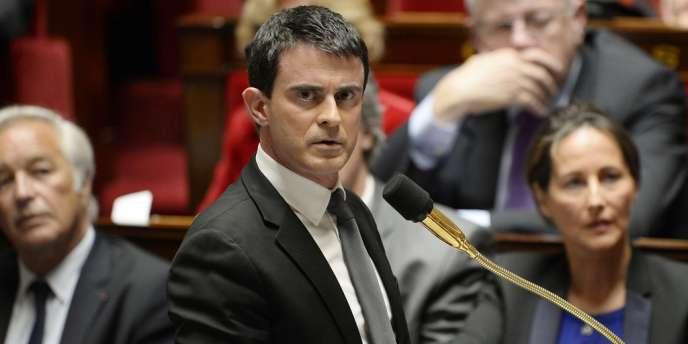 Manuel Valls, le 15 avril à l'Assemblée nationale.