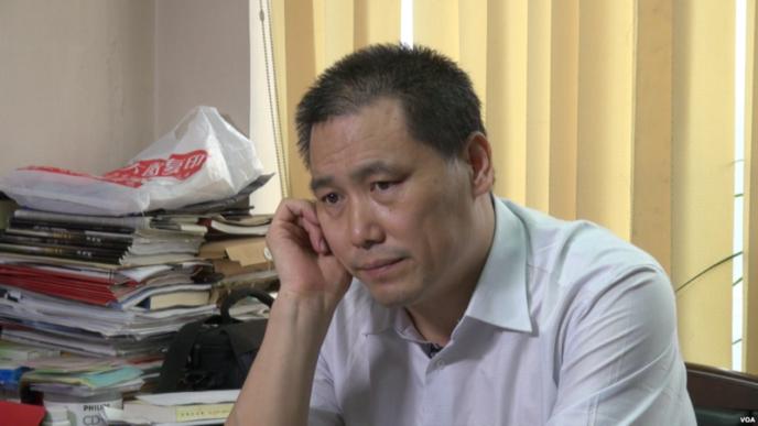 L'avocat Pu Zhiqiang, arrêté le 6 mai par les autorités chinoises avec plusieurs intellectuels de premier plan.