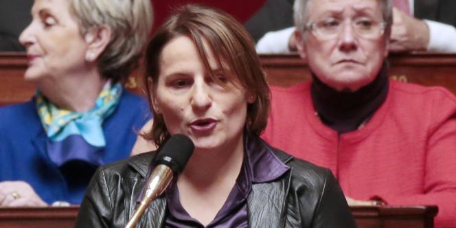 La députée socialiste Valérie Rabault, le 18 décembre 2012 à l'Assemblée.