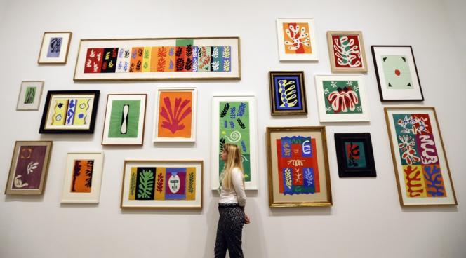 Vue d'ensemble d'une des salles de l'exposition consacrée à Henri Matisse à la Tate Modern de Londres, jusqu'au 7 septembre 2014.