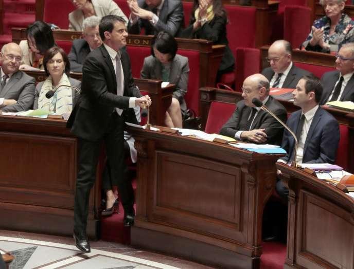 Manuel Valls à l'Assemblée nationale, le 16 avril.