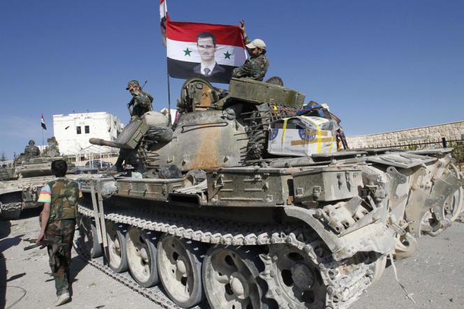 L'armée syrienne entre dans le village de Maloula, après l'avoir pris aux rebelles en avril.