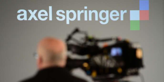 Au siège du groupe Axel Springer, à Berlin, le 6 mars.