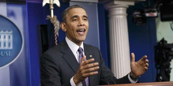 Barack Obama à la Maison blanche, le 17 avril.