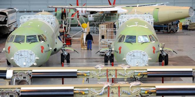 L'usine toulousaine de l'avionneur ATR, en janvier 2013.