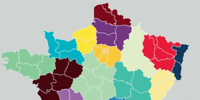 La France à douze régions.