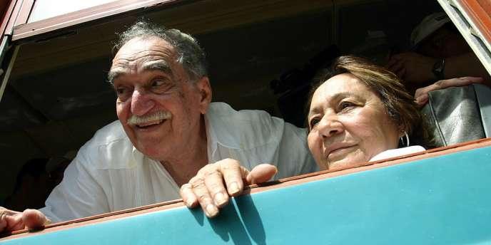 Gabriel Garcia Marquez et sa femme Mercedes Barcha en Colombie, en 2007.