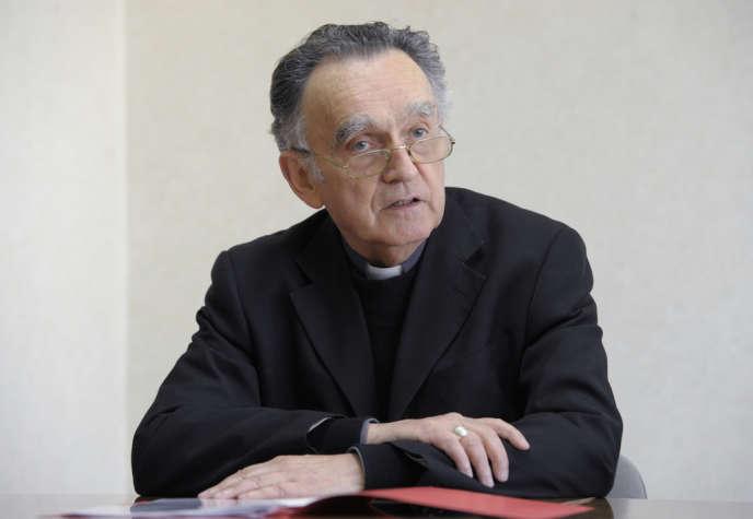 Mgr Georges Pontier, président de la Conférence des évêques de France le 19 avril.