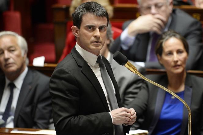 Le premier ministre Manuel Valls, le 15 avril 2014, à l'Assemblée nationale.
