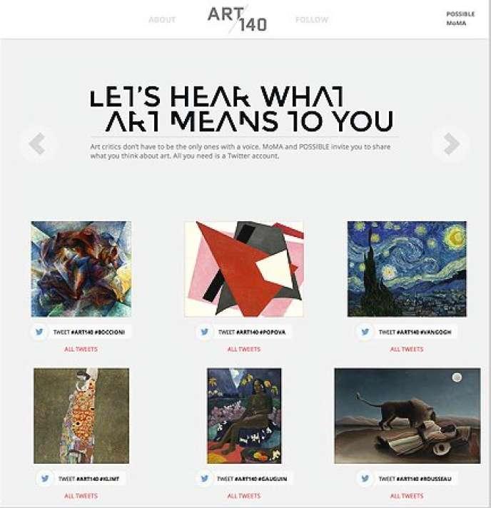 Page d'accueil du site lancé par le Museum of Modern Art de New York.