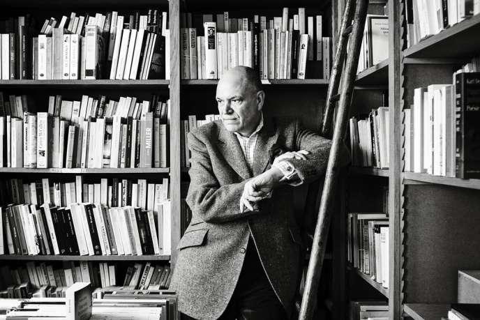 Dominique Gaultier, le 1er avril au Dilettante, sa librairie et maison d'édition.