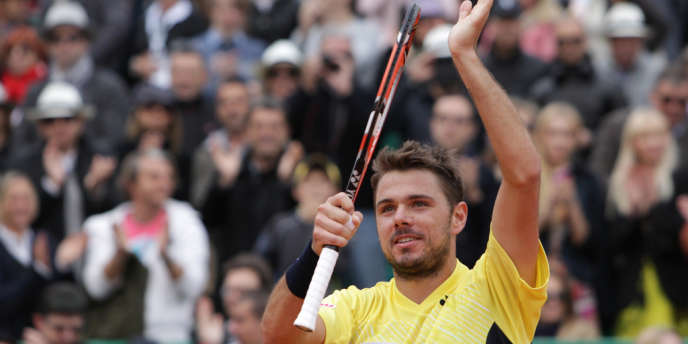 Stanislas Wawrinka après sa victoire en demi-finale du tournoi de Monte-Carlo, samedi, contre David Ferrer.