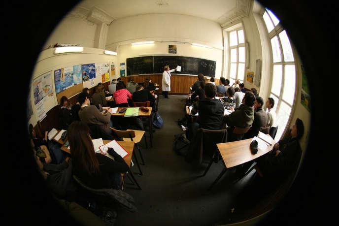 Dans un lycée parisien en 2008.