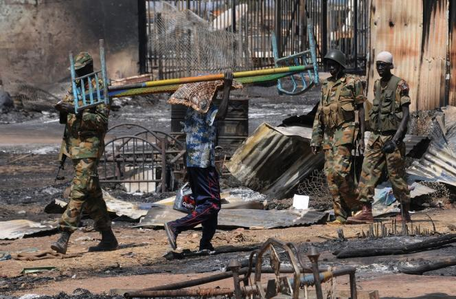 Bentiu, au Soudan du Sud, en janvier2014.